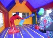 juego inflable gladiador romano