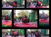 Toro mecanico y muros de escalada inflables