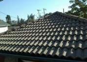 Reparaciones te techumbres y cubiertas. canales bajadas teja asfaltica