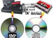 Traspaso de cintas de video a dvd (vhs, 8mm, minidv, etc) $5000.-