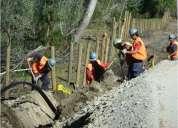 Excavadores --canaliza dores-- obras civiles