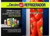 Vinilo adhesivo decorativo para refrigeradores