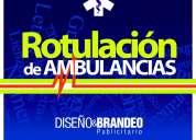 Rotulacion grafica autoadhesiva para ambulancias y carros de rescate