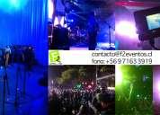 F2 eventos producción, iluminación, sonido, baquetearía, vídeos, fotografía, más