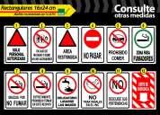Señaleticas de seguridad industrial  adhesivas y rigidas