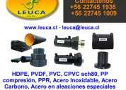 Valvulas para ambientes corrosivos valparaíso-viña del mar  - leuca ltda +56 22745-1009