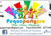 Pequeparty Música, Vídeo y Iluminación para eventos