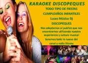 Karaokes para fiestas con dj incluido animacion concursos en santiago