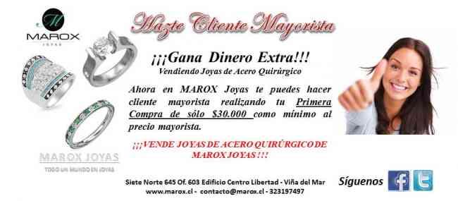 VENTA DE JOYAS DE ACERO CON DESPACHO A TODO EL PAÍS - MAROX JOYAS
